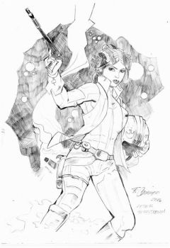 Princess Leia (After Terry Dodson) by FabioCaravieri