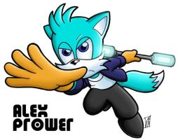 Alex Prower - fleetway by zonefox