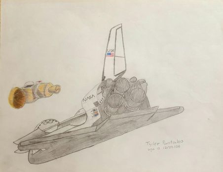 Space Shuttle deploys payload by Blazinghalo