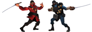 Soldier vs Demoman by Fleet-Feet