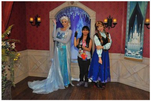 Queen Elsa, Princess Anna and I did the pose pic 3 by Magic-Kristina-KW