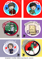 Smosh Stickers by Super-Cute