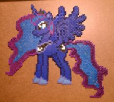 Princess Luna Beadart by Twilightspark1e