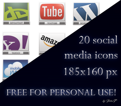 Social Media Icons VOL.3 by IvetaT