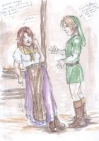 Malon and Link by the-infamous-padfoot