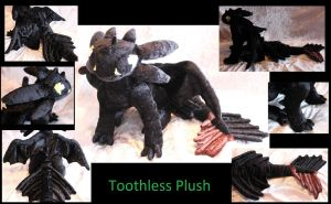 Toothless Plush Commission by MidnightZero