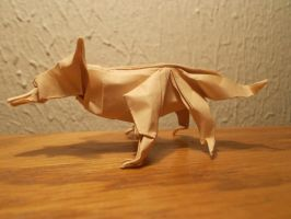 Origami Fox created and folded by me. by OrigamiFolder13