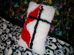 Flame and Cross Pillow by hadesgrendel90