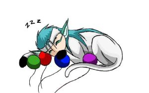 Sleepy Grimmjow by xRaggsokkenx