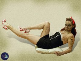 Zombie Pinup by Snaecka