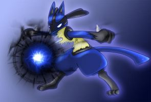 .:Lucario:. by Dragon33