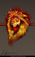 Lion in Red by balaa