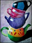 Tea Pots And Cups by rainismysunshine