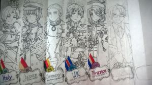 Hetalia Axis And Allies Jackets: REVISED!! *WIP* by UnsunkenHedgehog101
