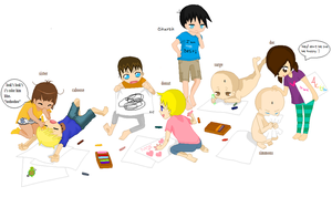 ..::RvB baby playtime Collab::..  +My second part+ by MisaMisaCupcake