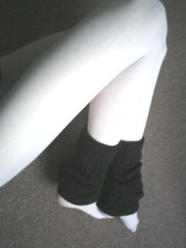 White with legwarmers 3 by MagpieGreen
