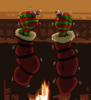 (Coloured) Stuffing the Stockings by Ponyguy67