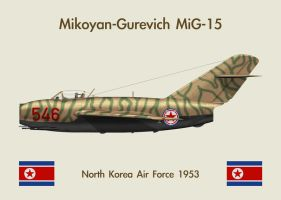 Fridge Magnet MiG-15 1 by WS-Clave