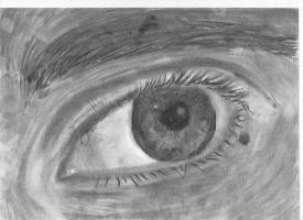 eye trying with charcoal by CeraSo36