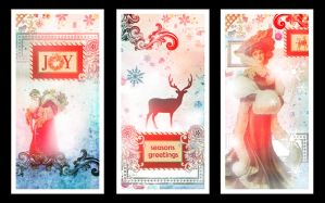 Christmas card designs 1 by Tiger-tyger