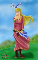 Skyward Sword Zelda Paint by zeocloud