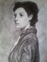 Woman portrait by MaryBrodzeli