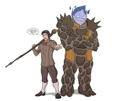 A Man And His Golem by LightSeeker