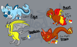 Fakemon Adoptables -CLOSED- by CollectionOfWhiskers