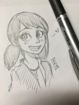 Marinette Sketch by Mikki05