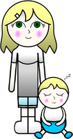 Young Serene and Baby Milly by GWizard777