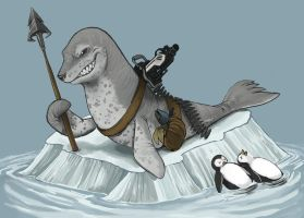 Leopard Seal Wins! by Silverkiwi78