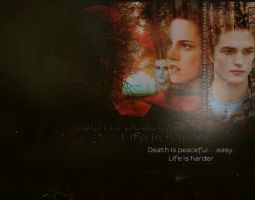 Edward and Bella wallpaper by GABY-MIX
