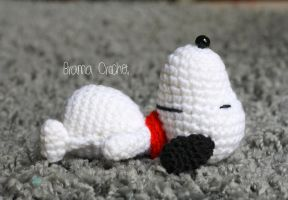 Snoopy crochet amigurumi doll by BramaCrochet