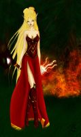 Blood elf burn forest... by MlleMew