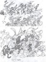 The March of the All-Stars by EeyorbStudios