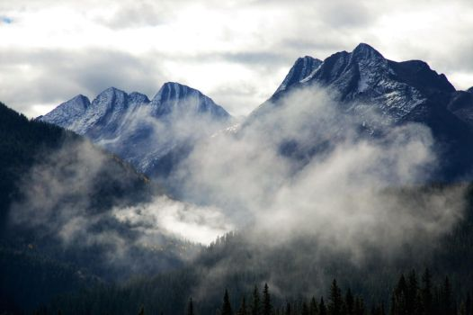 Clouded Mountainside by JeFr316