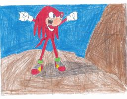 Knuckles is pissed. by sonigoku