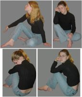 Series B of 4 Female Poses by FantasyStock