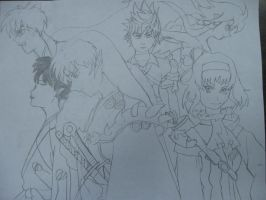 Sesshomaru and Co by VorpalRaven