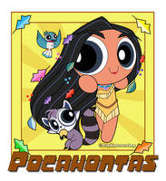 Crossover - Powerpuff Pocahontas and friends by DaphInteresting