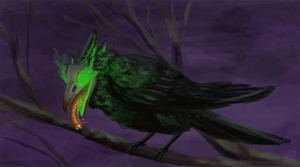 Plague Crow by Merrowsong