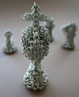 Chainmail Chess Set - King by HeruFeanor