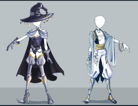 Adoptable outfit #29-30 - [Auction - CLOSED] by Eggperon