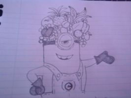 chiquita banana minion doodle by theladyinred002
