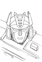 Soundwave  unmasked - lineart by horsetechie
