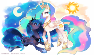 the sun and the moon by suikuzu