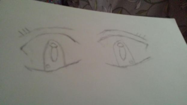 Anime eyes first attempt by hannabeth94