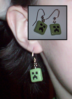 Creeper Earrings by UniqueTreats
