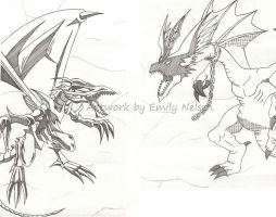 Red Eyes + Harpies Pet Dragons by DarkGeminiLily