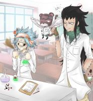 Science with Gajeel and Levy by SnowBreeze-Puff